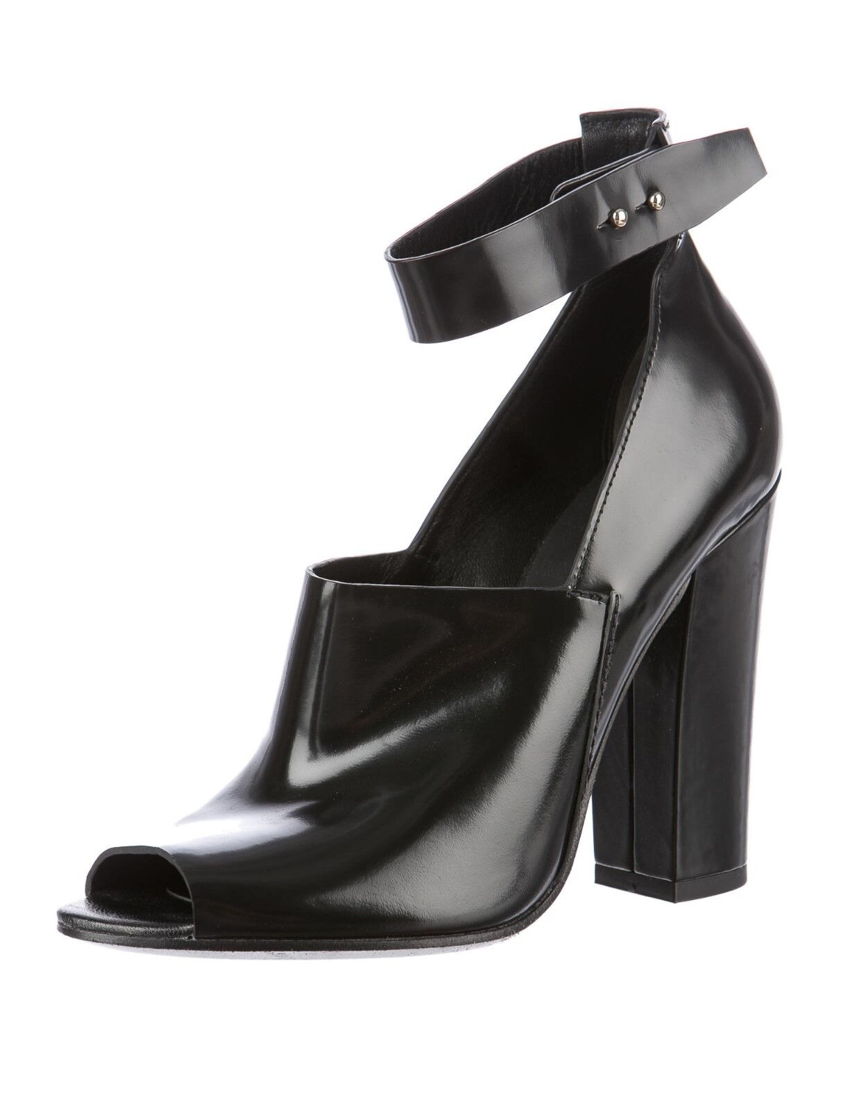 SOLD OUT NEW BLACK LEATHER ALEXANDER WANG HEELS WITH ANKLE STRAP