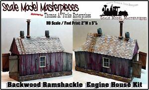 Scale-Model-Masterpieces-Yorke-Backwoods-Ramshackle-Engine-Shed-Kit-HO