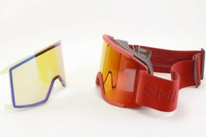 Smith-Squad-XL-Snow-Goggles-Lava-Chromapop-Sun-Red-Mirror-Lens-Bonus-New-2021