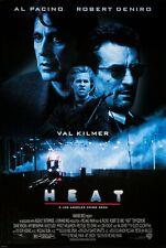 "HEAT Silk Fabric Movie Poster 15.7/""x24/"" Robert De Niro Al Pacino Val Kilmer 1995"