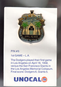 VINTAGE-L-A-DODGERS-UNOCAL-PIN-UNUSED-1ST-GAME-IN-LOS-ANGELES-APRIL-18-1958