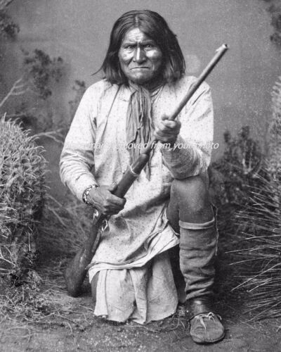Premium 8 x 10 Photo Print Native American Apache Indian Chief Geronimo
