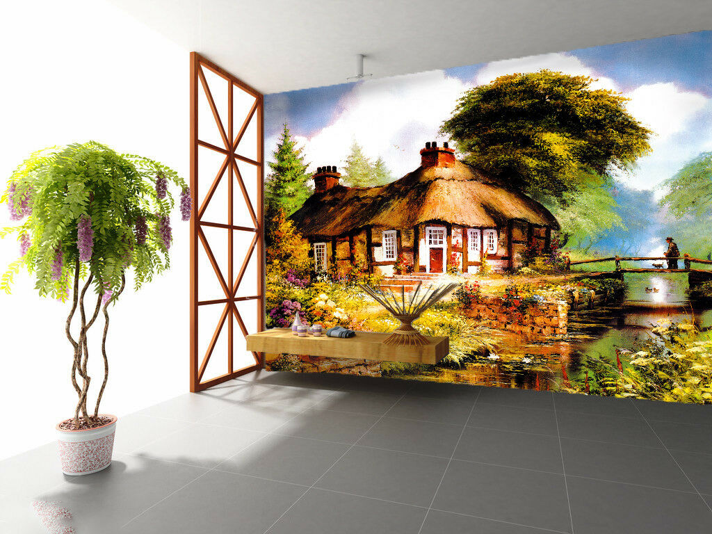 3D Hut Oil Painting 45 Wall Paper Wall Print Decal Wall Deco Indoor Mural Carly