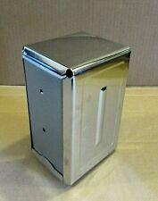 Ob Vintage Chrome Steel 4x7 Restaurant Ware Diner Cafe Napkin Holder Free Sh