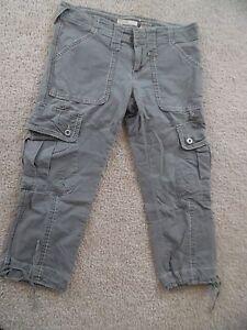 a61fe2692f1 VTG BONGO Juniors Sz 7 Cargo Capri Olive Army Green Crop Pants ...