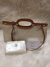 Louis Vuitton Winter White Vernis Roxbury Drive Handbag And Matching Wallet