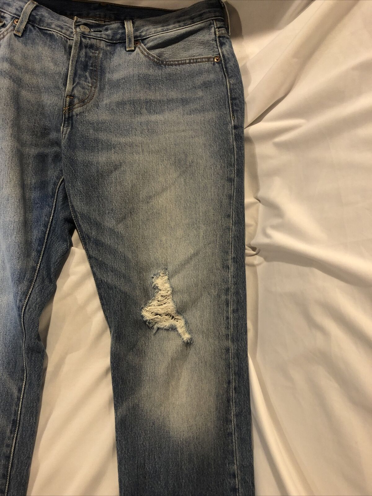 Levis Distressed 501 CT Jeans Size 28/32 - image 7