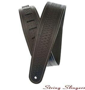 D-039-Addario-25WSTB00-2-5in-Basket-Weave-Embossed-Leather-Guitar-Strap-Black
