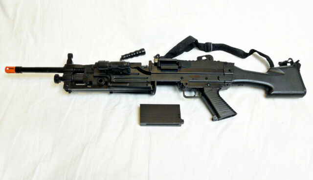 U.S. Military M248 Airsoft Machine Gun & Bipod -- Rifle/Prop + Many Extras - NEW