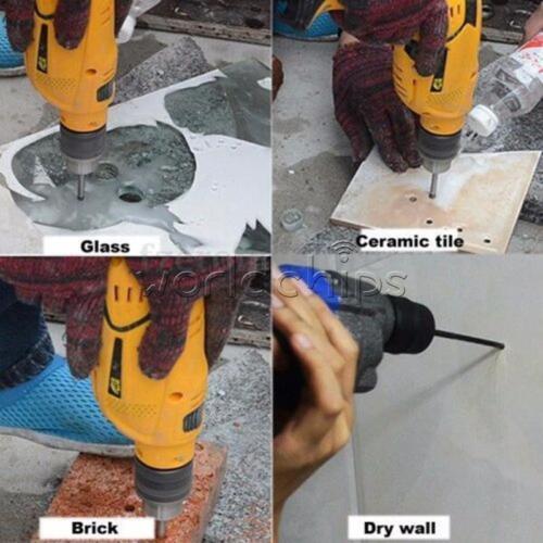 4PCS Marble 4//6//8//10mm Glass Spear Head Cretive Drill Bits Ceramic Tile Set