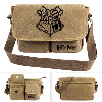 Harry Potter Hogwarts School Shoulder Messenger Bag Zipper Satchel Bag Gift