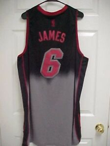 LeBRON JAMES 6 Miami Heat Limited Edition Men Basketball Gray Jersey ... 60e83d4b2