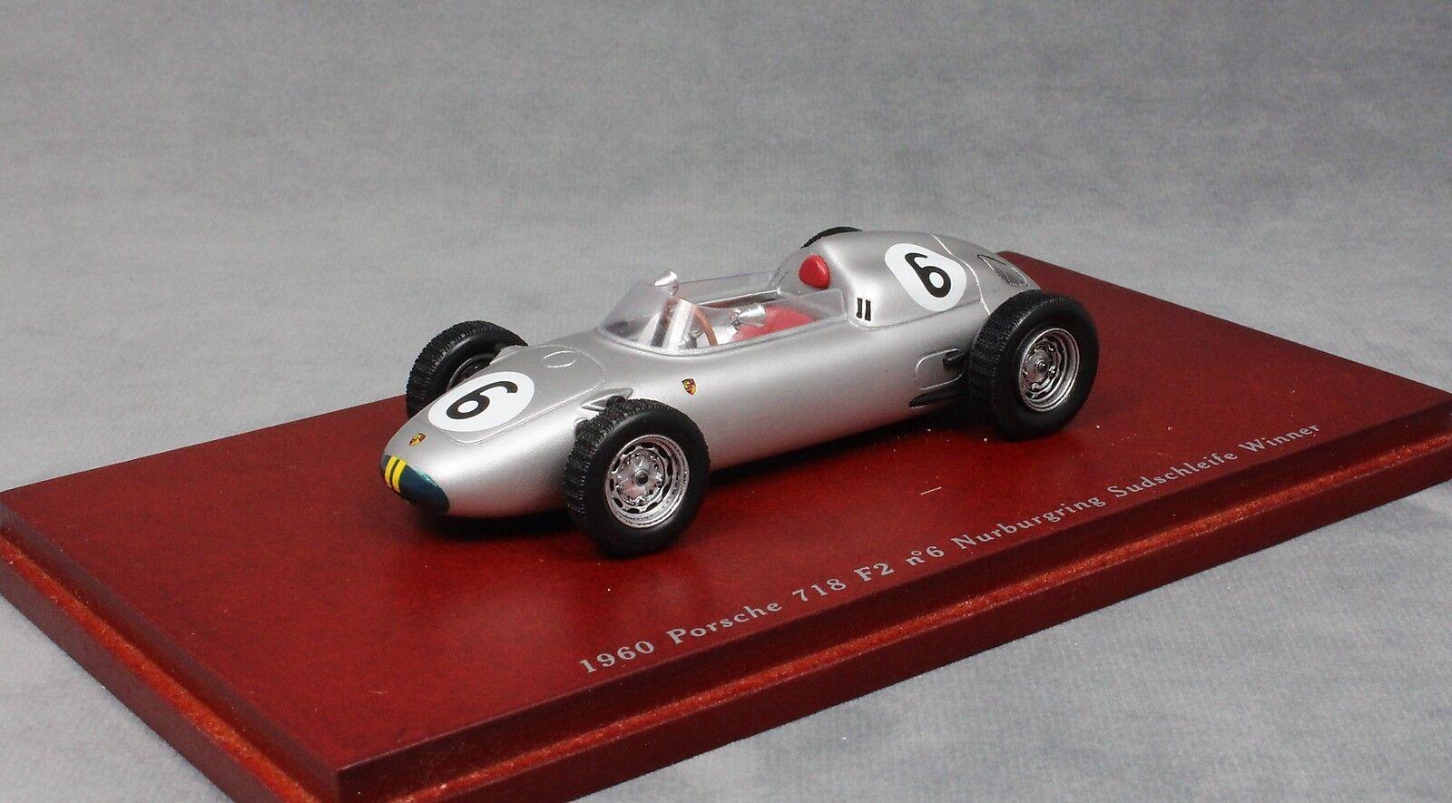 TRUESCALE Porsche 718 F2 Nurburgring Winner 1960 JO BONNIER TSM114308 1 43 NEUF