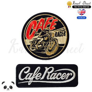 Cafe-Racer-Motor-Bike-Embroidered-Iron-On-Sew-On-Patch-Badge-For-Clothes-etc