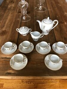 Fukagawa-Arita-Tea-Service-17-Pieces-Porcelain-Handpainted-Made-In-Japan-901