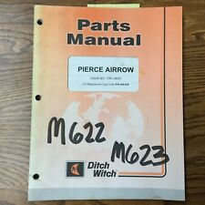 Ditch Witch Pierce Airrow Parts Manual Book Catalog Guide List Piercing Tools