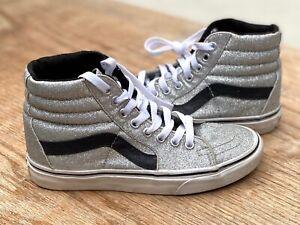 Vans Sk8 Hi Silver Glitter High Tops