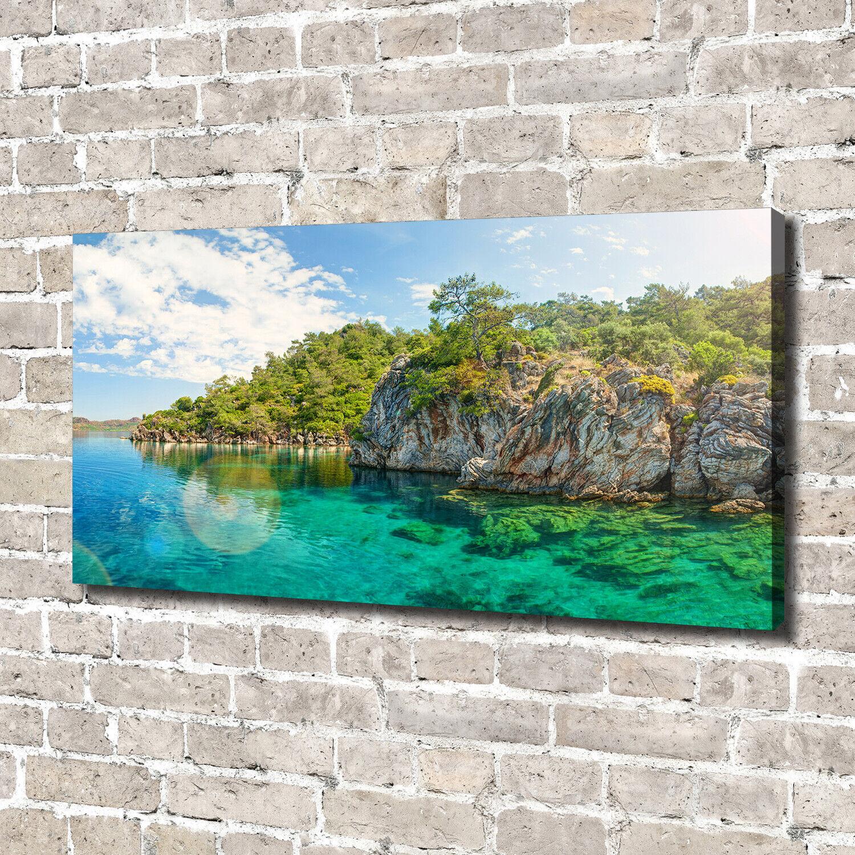 Leinwandbild Kunst-Druck 140x70 Bilder Landschaften Blaue Lagune
