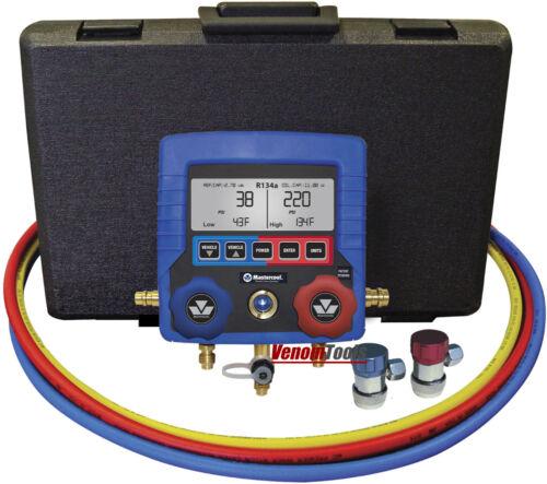 Mastercool Digital R134a A//C Manifold Gauge Set With Hoses 99872-A