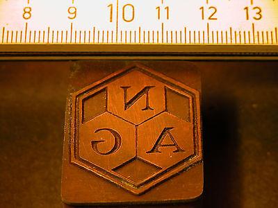 Nag Logo Schöner Oldtimer Stempel / Siegel Aus Metall Street Price