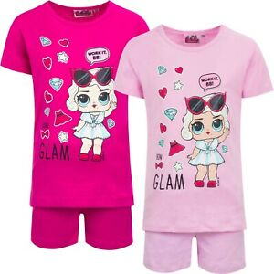 LOL-surprise-Shorts-a-Manches-Courtes-Pyjama-Set-Filles-Pyjamas