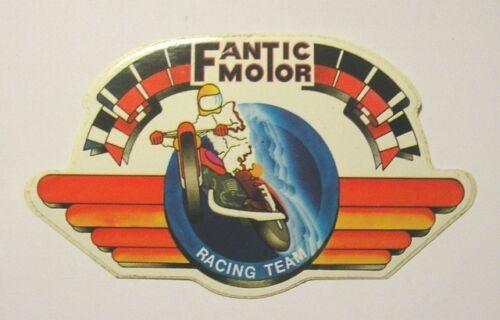ADESIVO MOTO anni '80 / Old Sticker FANTIC MOTOR RACING TEAM CROSS (cm 12 x 7)