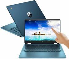 """HP 2 Em 1 14"""" tela sensível ao toque Chromebook Intel 2.8Ghz 64GB Ssd 4GB Ram Azul"""