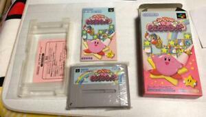 Details about Nintendo Super Famicom SNES Kirby Kirakira Kids Game Rom  Tested W/Box Ex