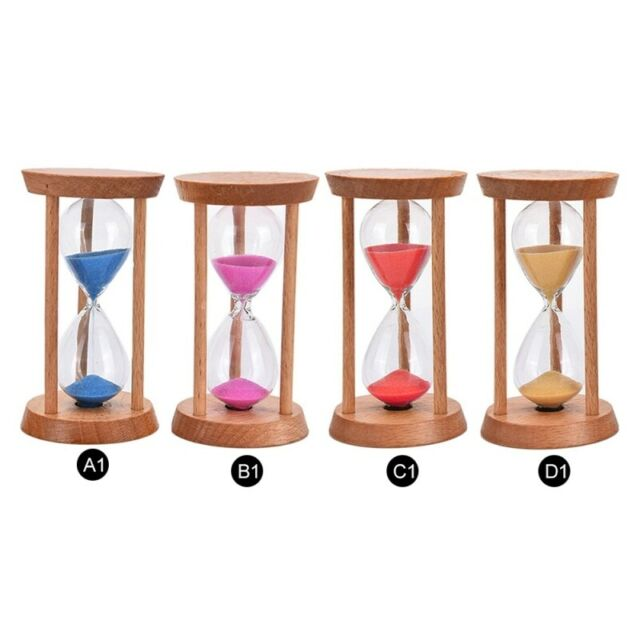 1 Minute Wooden White Sand Egg Timer Decorative Hourglass Kitchen Cooking
