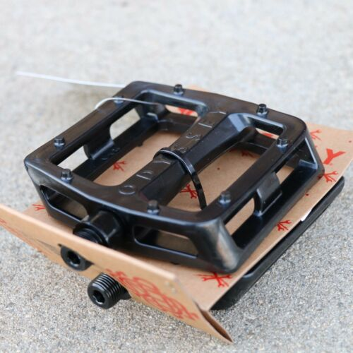 """ODYSSEY BMX BIKE GRANDSTAND PC BLACK BICYCLE PEDALS 9//16/"""" PRIMO CULT SUNDAY FIT"""
