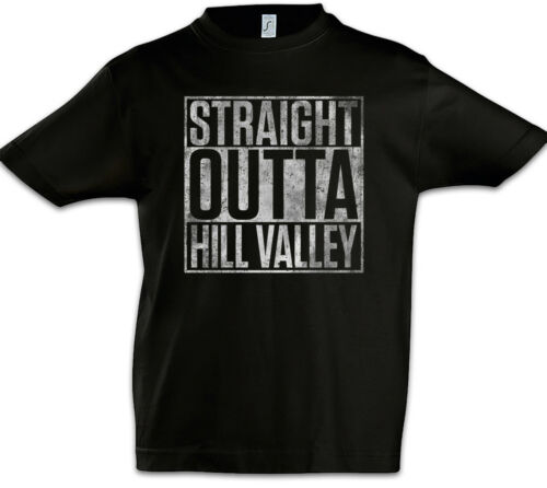 Straight Outta Hill Valley Kids Boys T-Shirt Back To The Car Miles Future Fun