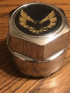 PONTIAC FIREBIRD TRANS-AM Wheel Center Hub Cap Black w// Gold Bronze Bird