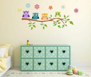 Wandtattoo Kinder Babyzimmer Aufkleber Eule Wandsticker Dekoration ...