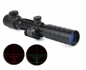 3-9x32-EG-Rifle-Scope-Red-Green-Dot-Illuminated-Sight-Tactical-Sniper-Scopes