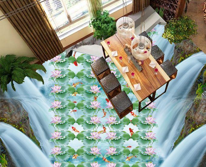 3D Fleurs 41 Fond d'écran étage Peint en Autocollant Murale Plafond Chambre Art