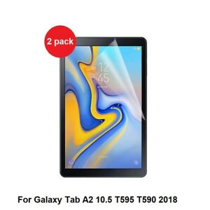 2-x-Clear-Screen-Protectors-Samsung-Galaxy-Tab-A2-10-5-SM-T590-T595-2018-model