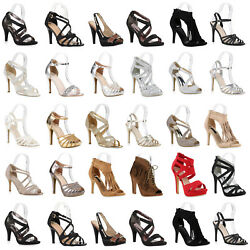 Elegante High Heels Damen Sandaletten Party 890978 Schuhe