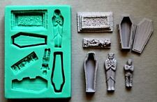 Silicone Mould  Halloween COFFINS GRAVE MUMMY Sugarcraft Cake Decorating mold