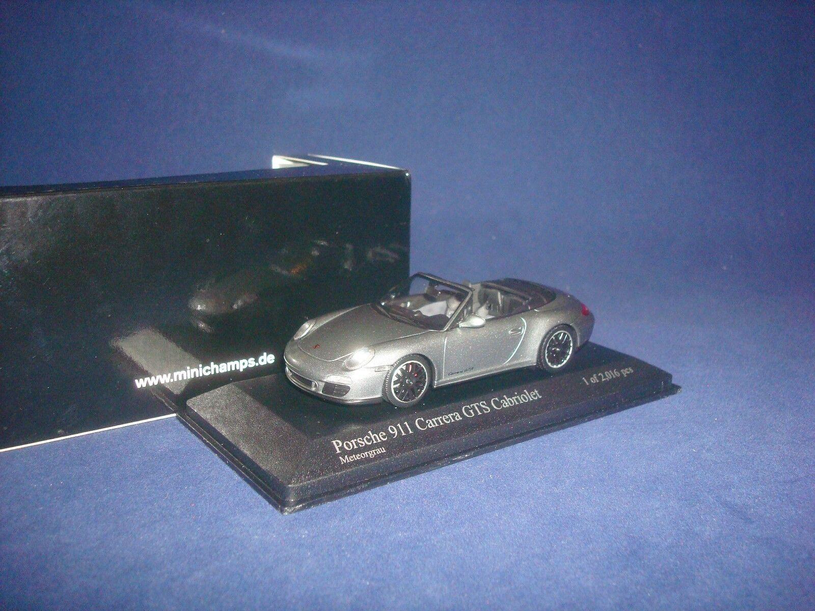 Porsche 911 GTS GTS GTS CABRIOLET (997 II) 2011 GREY MET  Minichamps 410060130 1 43 1b6838