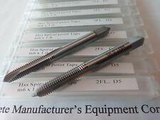 10 Pcs Metric Spiral Point Taps M6x10 6mm X 10mm M2 Hss 2 Flute