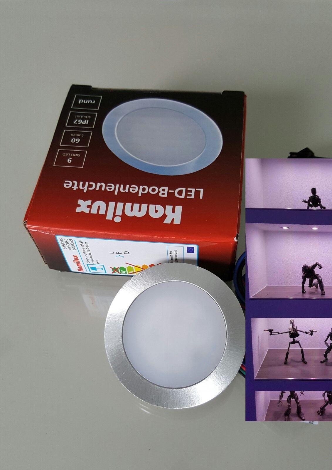 3er RGB-LED-Bodeneinbauleuchte FlattyController m.Fernbedienung LED-Trafo 12W  | Tragen-wider