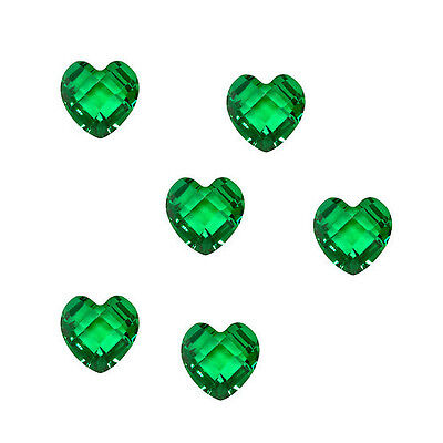 10pcs 5mm Heart Birthstone Floating Charm Memory Locket Peridot New