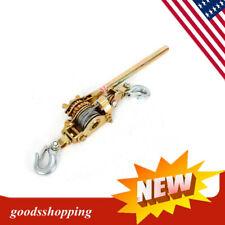 2 Ton Heavy Duty Hand Puller Come Along Cable Hoist Hooks 4400lbs