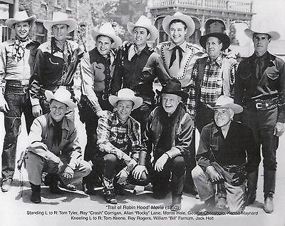 "Roy Rogers TRAIL OF ROBIN HOOD   8/""X10/"" B/&W RR-23"