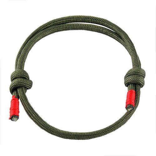 Noir//Vert Marin Cordage Polyester Para Cordon Bracelet Handmade Bracelet