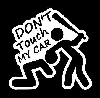 Outdoors etc Windows DON/'T TOUCH MY TRUCK Female Decal JDM Funny Decal for Car