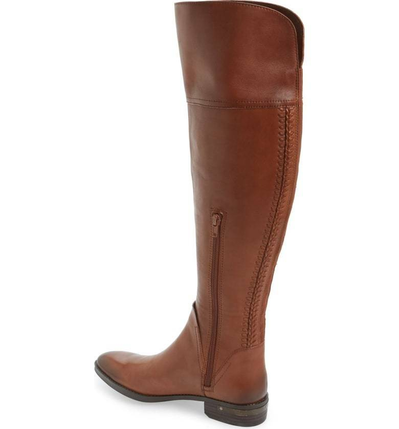 WOMENS VINCE CAMUTO BOOTS Pedra Over The Knee Leather Brown Riding Boot 6 M WIDE