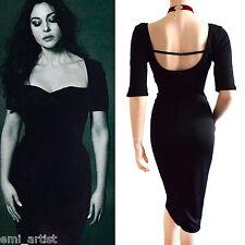 DOLCE & GABBANA D&G black jersey 3/4 sleeve HOT Bellucci DRESS size 10 6 42