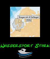 Navionics+ MicroSD-Karte mit SD-Adapter – 45XG - Skagerrak & Kattegat