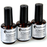 3x Nail Art Acrylic Uv Topcoat Gel Polish Shiny Gloss Lamp System Manicure